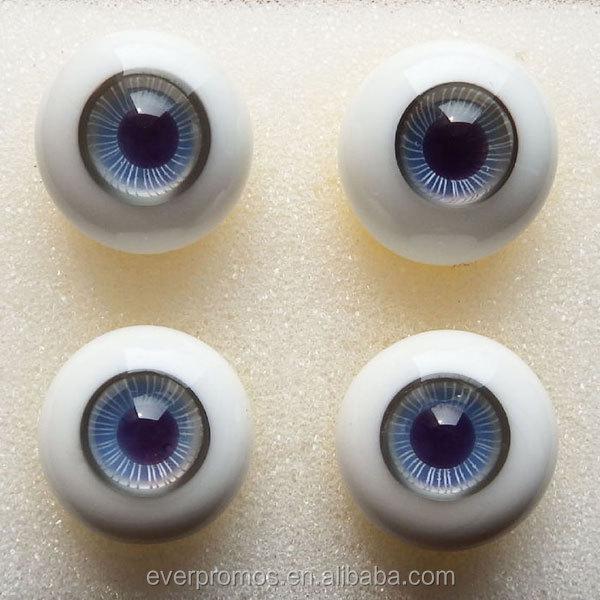 Iris 18mm Glass Stript BJD Eyes for Reborn Doll vivid Colorful purple/&Blue