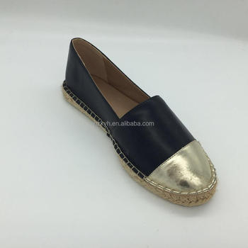 info for newest collection shades of Pu Black&gold Flat Ladies Female Women's Espadrilles Shoes - Buy Women's  Espadrilles,Ladies Shoes Flat,Female Shoes Product on Alibaba.com