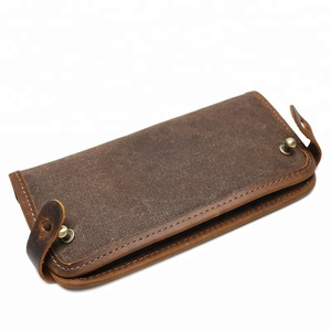 Vintage Multi-color Unisex Long Size Waxed Canvas Wallet