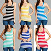 Women Custom Wholesale Stringer Tank Top STRIPED RACER BACK Waist Trainer Tank Top