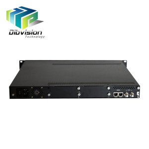 2 ip input over Ethernet RJ45 to 24 qam catv modulator 4 cas