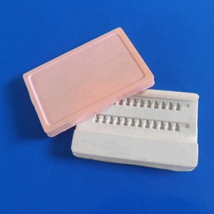 custom vacuum forming PS eyelash blister packaging tray with lid
