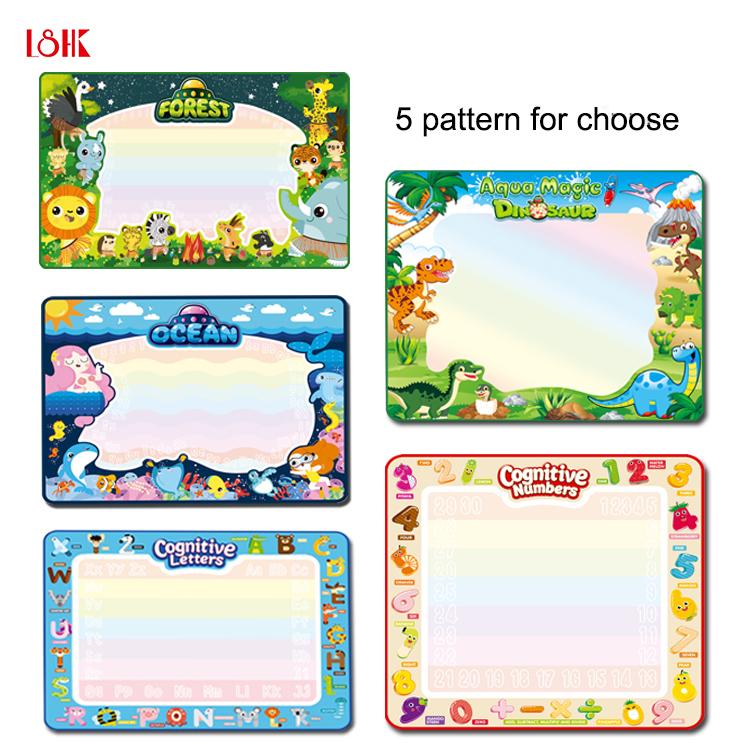 Brinquedos educacionais do bebê atividade mat tapete do aqua doodle mat desenho mágico para crianças