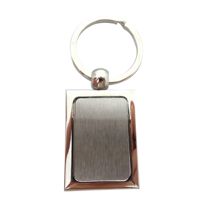 Zinc alloy Silver High polished Blank Key Chain Custom Metal Keychain