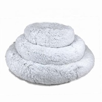 Yangyang Pet beds accessories Cover Removable Cuddler Soft Plush Woman Cute Round Donut Dog Bed Luxury