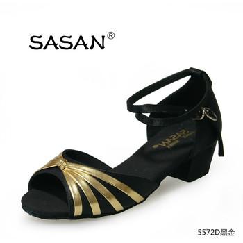 2ac2b38e9 Low Heel Dance Shoes Girl Latin Shoes Open Toe Dancing Shoes ...