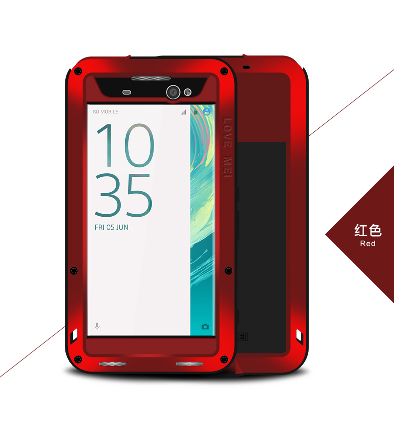 Love Mei Powerful SHOCkproof Waterproof Rugged METAL case +GORILLA GLASS for XPERIA XA Ultra