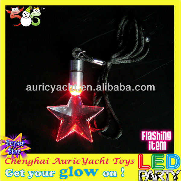 flash led necklace,lovely star shape flashing necklace ZH0911929