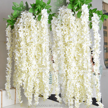 Hot Selling Flowers Artificial High Quality Hanging Wisteria Silk Flowers Artificial Wisteria Flower for wedding decoration