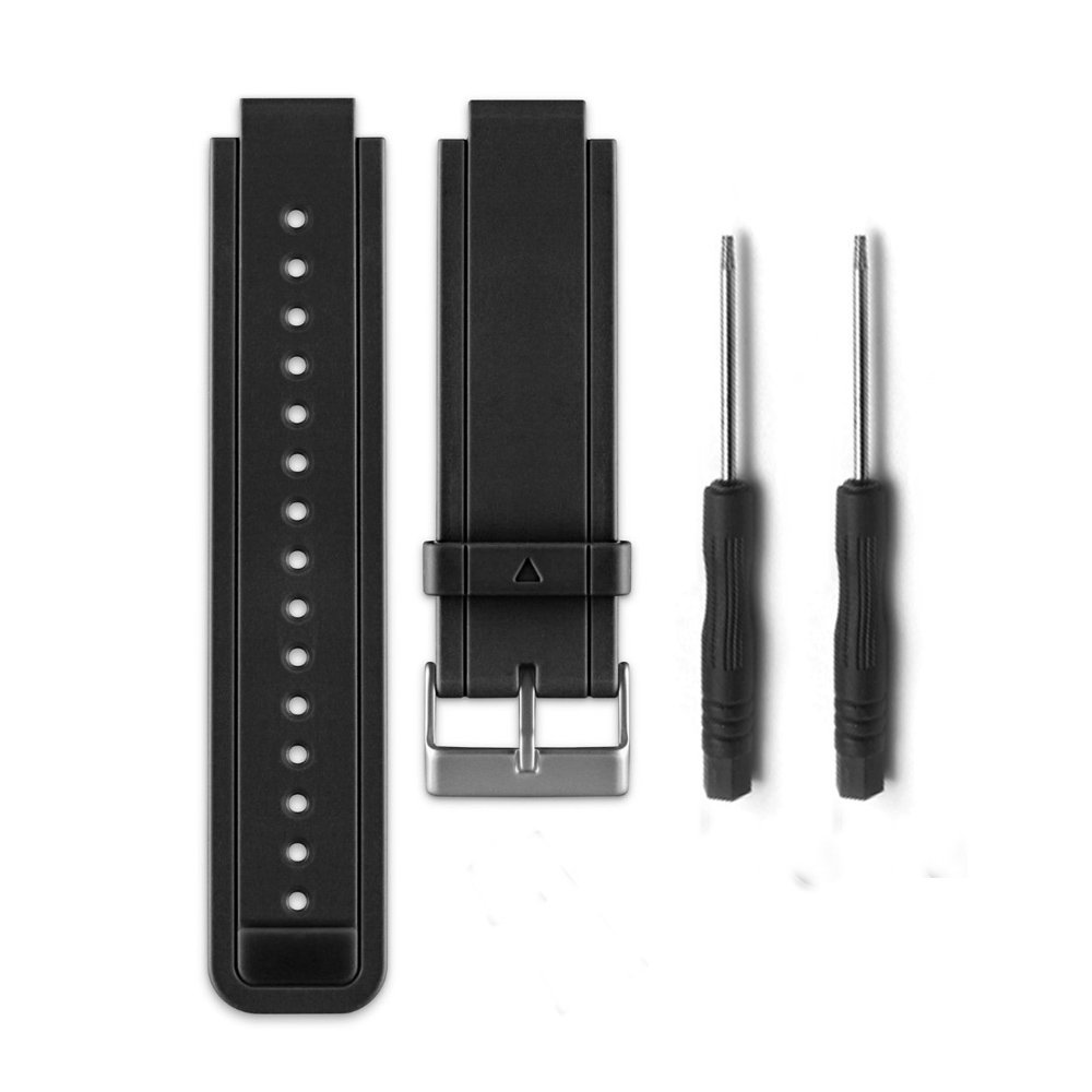 HWHMH Allrun Replacement Silicone Bands With 2PCS Pin Removal Tools for Garmin Vivoactive (No tracker, Replacement Bands Only)
