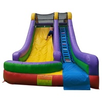 Outdoor Large Commercial Kids Inflatable Water Slide With Pool For Sale
