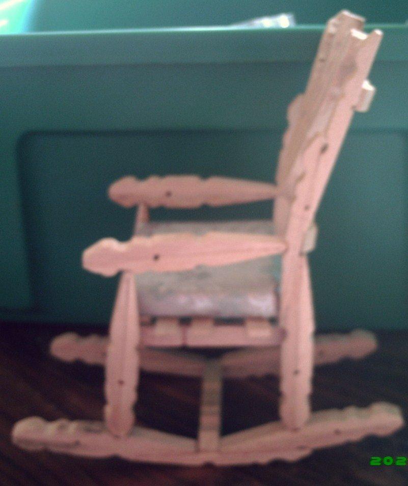 Fatto a mano artigianali molletta sedia a dondolo immagine - Sedia a dondolo prezzo ...