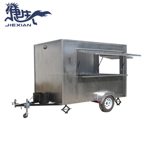 JX-FS300C Stainless steel food trailer/Food kiosk cart/Catering trailer mobile food truck