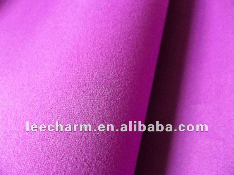 Lavender Violet Brushed Pongee Fabric Artificial Flower Material