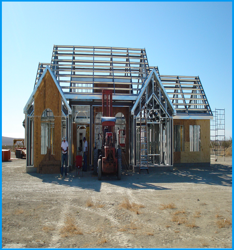 China manufacturer modern design bungalow steel frame for Modern steel frame homes
