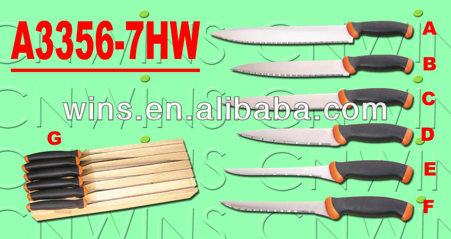 6PCS serrated knife of global knifes