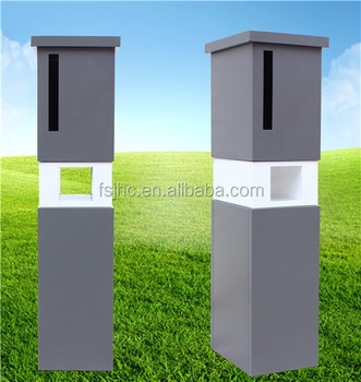 Free Standing Mailbo Metal Waterproof Mailbox With Newspaper Hole Design Letterbox