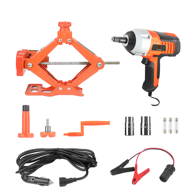 Hangzhou Vcan 3 in 1 whole set impact wrench and Electric Hydraulic Car Jack electric jack 12V