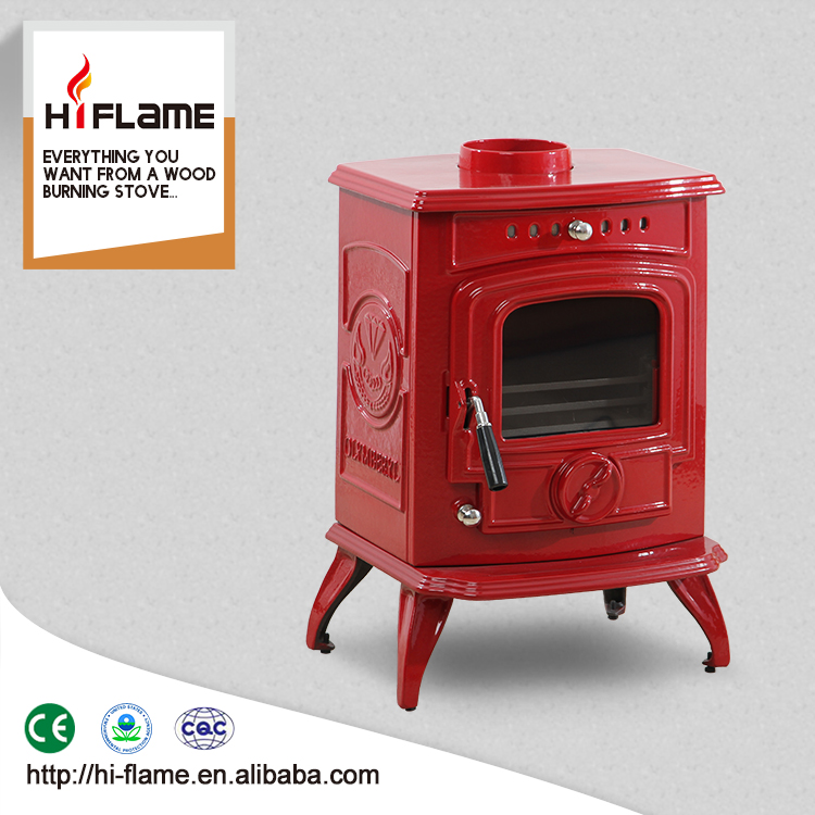 Red Enamel Wood Stoves Style Burning Stove And Burner Hf332e View Hiflame Product Details From Henan Hi Flame Metal Co