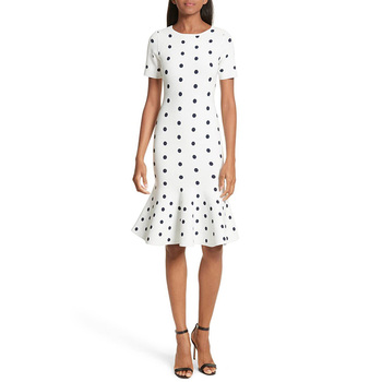 Summer Short Sleeve Womens Pencil Dress Polka Dot Kitenge Dress Designs Women Clothes Dress