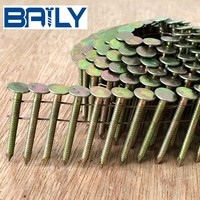 Cheap Factory Price Vinyl coated Coil Nails Supplier for UK market