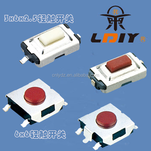 3*6*2.5 push tact Switch normally closed tact switch 2 pin smd tact switch LY-A06-C3