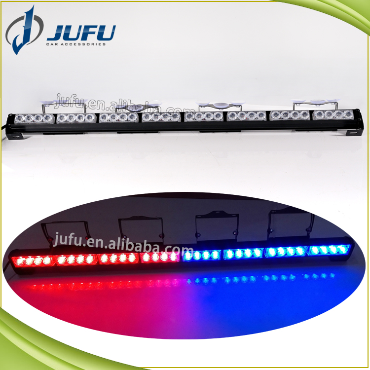 32W red blue white green amber led strobe ligth bar vehicle traffic advisor directional light car emergency flashing light
