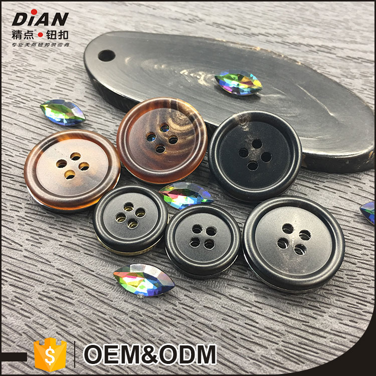 DIAN, 32L All Types Of Horn Button For Garment With Thick Round Rim