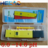 0.1 Resolution High Accuracy Handheld Pocket Ph Pen Meter Tester 0-14 Ph Measurement Range with ATC