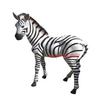 Best selling Amusement park ornaments cnbdglory products  fiberglass Zebra statue
