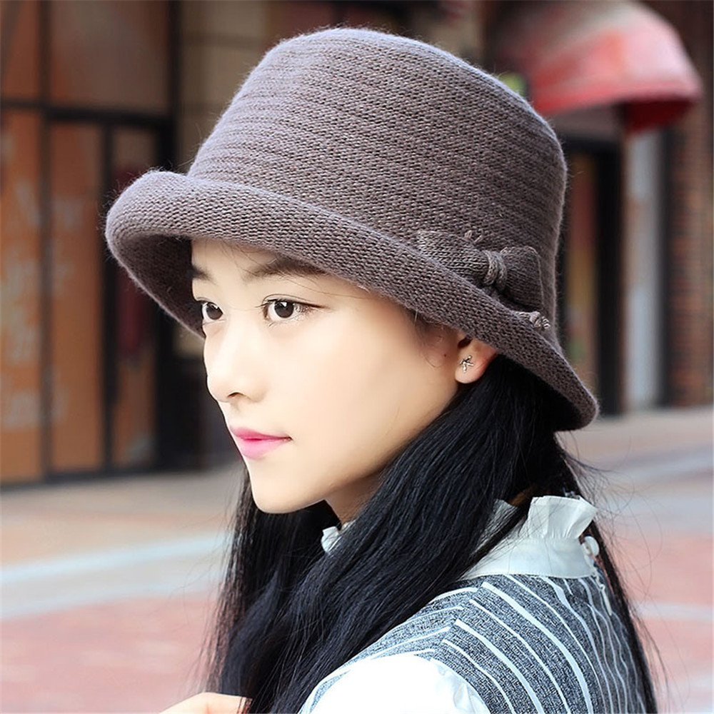 8a1585e84e10e Get Quotations · A woman s hat female curling hat small dome of the autumn  and winter leisure all-
