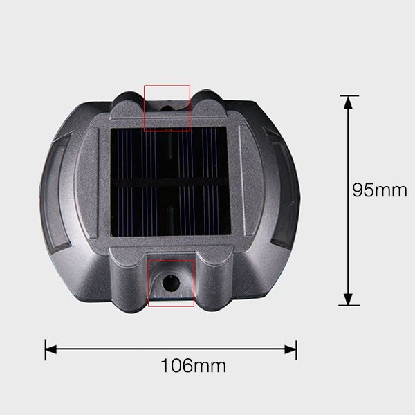 Solar Road Led Light Driveway Solar Power Traffic Light 1.2v 800 mah Street Light