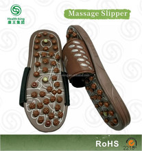 Personalized brown massaging sandal device