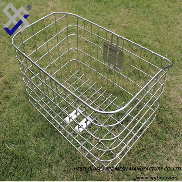 modern design high quality and cheap mental wire basket for bicycle