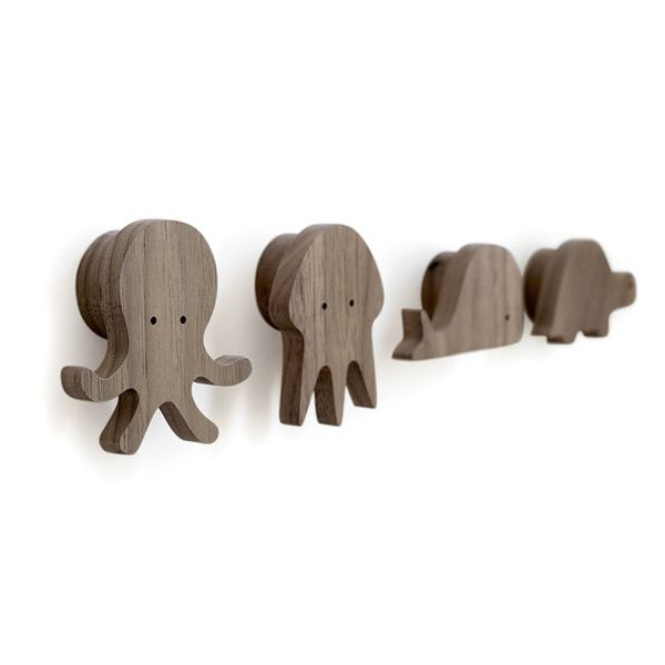 High Quality Child Room Natrual Wood Wall Single Cloth Hook