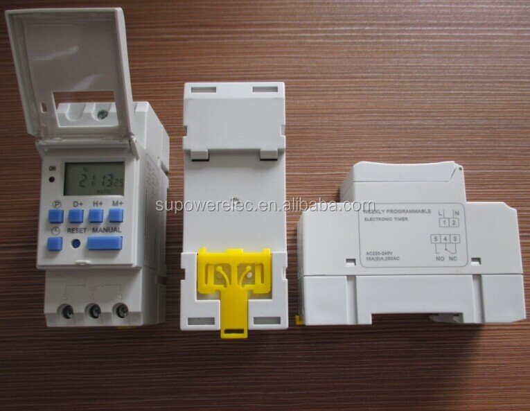 CE RoHS AHC15A THC15A Din Rail AC 220V 230V 120V 12V Daily Weekly Programmable Digital Timer Time Switch