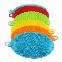 Multifunctional Silicone Sponge Dish Washing Brush Scrubber Kitchen Accessories
