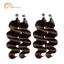 HT Onicca Pre-Bonded Hair Blonde Nail Human Hair Extension Brazilian Human I Tip Hair