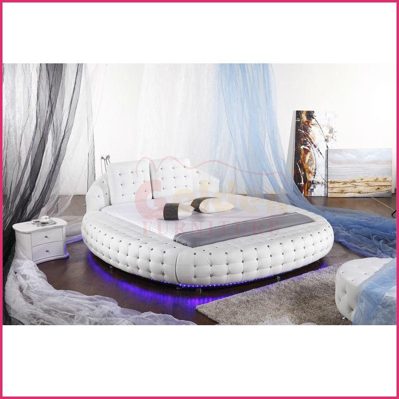 Führte Unter Bett Licht King-size-bett Rund Zum Verkauf O6821# - Buy ...