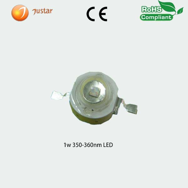 high power 3w germicidal uv led 350nm for uv disinfection