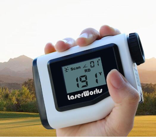 Best selling 600m slope compensated external LCD display golf rangefinder, golf range finder with jolt