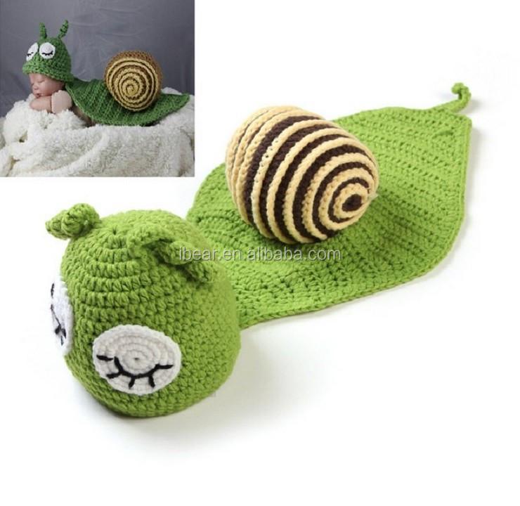 Handarbeit Gehäkelt Kleine Grüne Schnecke Baby Kleidung Kamera ...