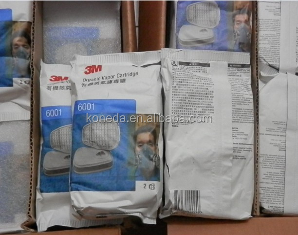 3m 6001 half mask cartridge for 3m mask, respiratory protection from certain organic 3M Mask Respirator 6001 Chemical Cartridge