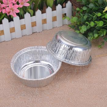 Round Aluminum Foil Storage Containers/disposable Fast Food Containers/aluminum  Foil Carryout Lunch Box