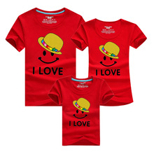 1pc Family Look Matching Clothing Outfits Letter I LOVE T shirt Baby Mother Matching Clothes Tee
