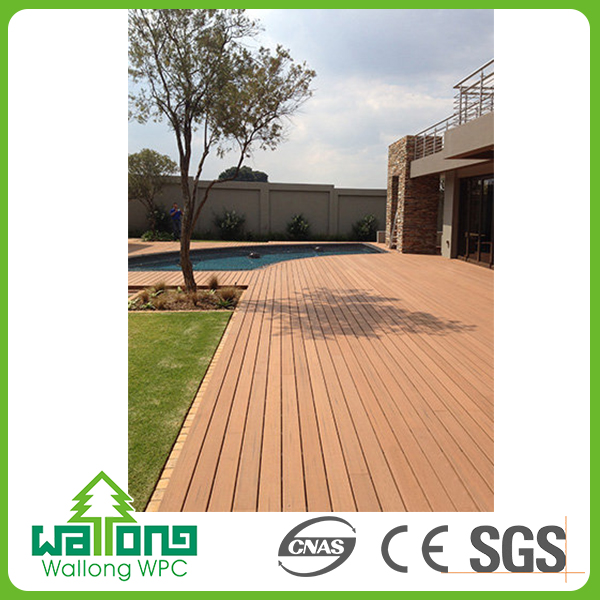 UV proof wpc outdoor patio composite decking hollow tiles 40x40