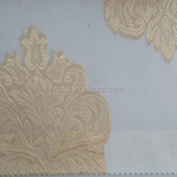 100 Polyester Embroidered Organza Curtain Backing Cloth For Sale
