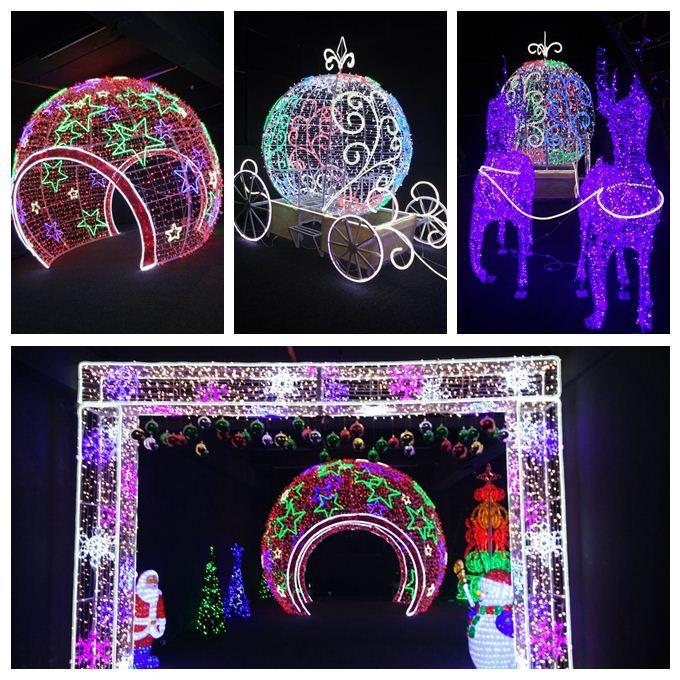 Outdoor metal reindeer sleigh christmas decoration buy christmas