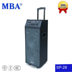 Popular PA system new design trolley active speaker with remote /wireless MIC /USB/SD reader function