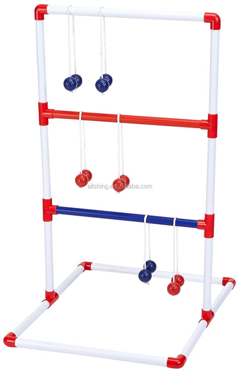 Wholesale Indoor / Outdoor Ladder Toss Game Set with 6 Rubber Bolos, carrying Case, Score Trackers